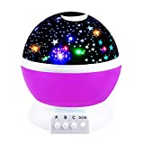 2-10 Year Old Girls Gifts, Ouwen Night Light Moon Star Rotating Projector