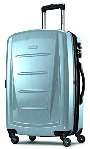 Samsonite Winfield 2 Hardside Expandable Luggage with Spinner Wheels, Ice Blue, Checked-Large 28-Inch