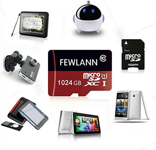 FEWLANN 1TB Micro SD SDXC Memory Card High Speed Class 10 with Micro SD Adapter