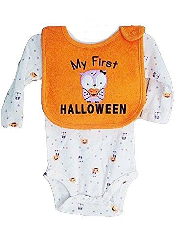 Carter's Child of Mine Baby Girl's First Halloween Bodysuit and Bib Set (Newborn) -