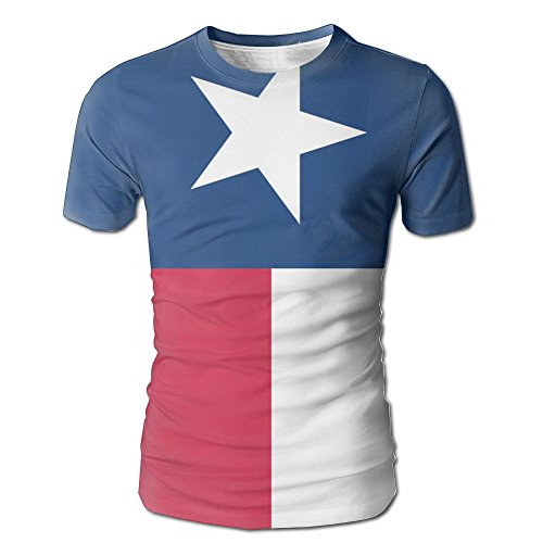 YOIGNG Hawaiian 3D Printed Flag Of Texas T-Shirt Short Sleeve Crewneck Tee Pullover Casual Tops