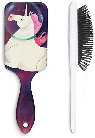 Unicorn Space Cat Hair Brushes Combs with Air Cushion Massage Scalp for Wet/Dry/Curly/Straight Hair Anti-static Hair Styling Tools