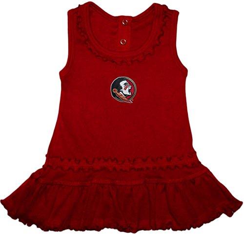Creative Knitwear Florida State University (FSU) Seminoles Ruffled Tank Top Dress with Bloomer Set, 24 Months, Garnet (Dress Kids Garnet)