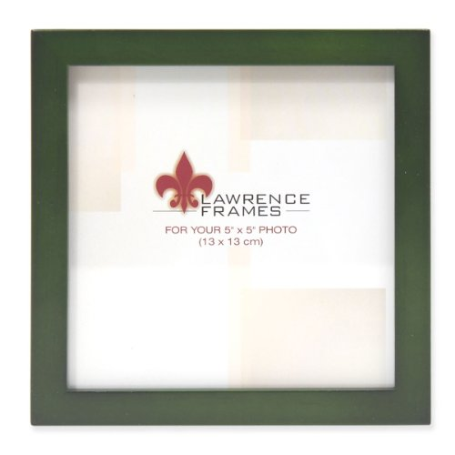 Lawrence Frames Collection Wood Picture Frame Gallery, 5 by 5-Inch, Green ()