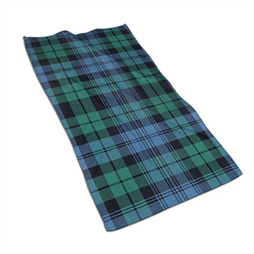 SWATLOGR Black Watch Tartan, Ancient Face Towel,Hand Towel,Kitchen Towels-Dish 3D Design Pattern Towel,Towels for The Kitchen,Cleaning,Cooking,Baking,Dishwashing Towel 15.7x27.5in