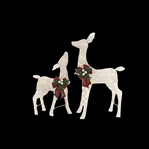 Outdoor Lighted Grapevine Deer - 1