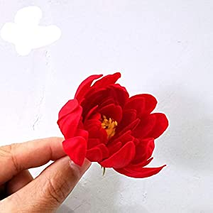 Artificial Flowers 50Pcs/Set Soap Asters Flowers Head Artificial Flowers for Home Wedding Party Decoration Ball Craft Fake Flowers,C6 2