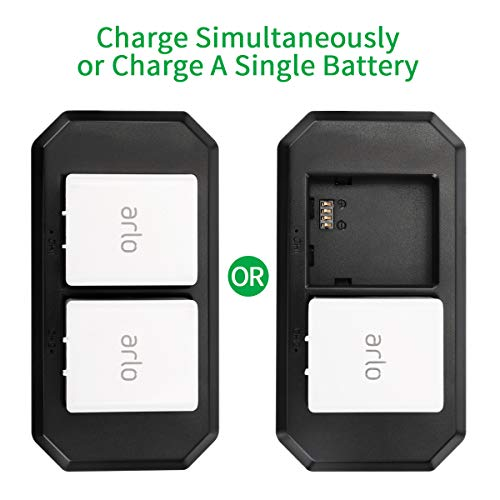 Arlo Batteries Charger, Keenstone Dual Battery Charger Station for Arlo Rechargable Batteries, Arlo Pro 2, Arlo Pro, Arlo Go Camera and Arlo Security Light (The Pictured Batteries are not Included)