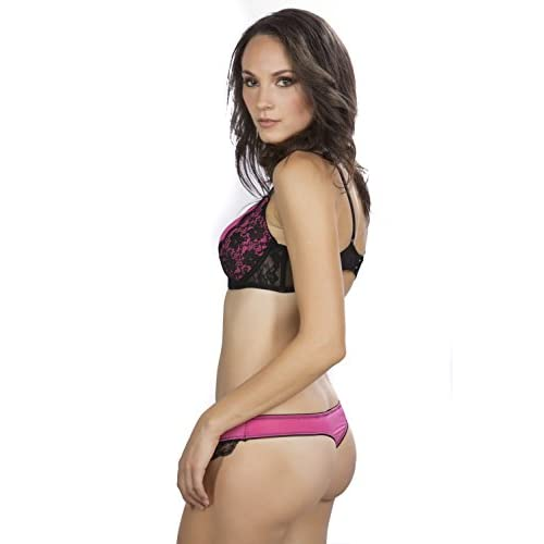 e722ae22d Hers by Herman Women s Sexy Cleopatra Push up Bra with Lace with Bikini and  Thong chic