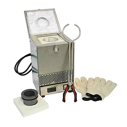 Hardin HD-234SS 70 Oz Stainless Steel Tabletop Melting Furnace with 2kg Crucible 110 Volt 1.5KW