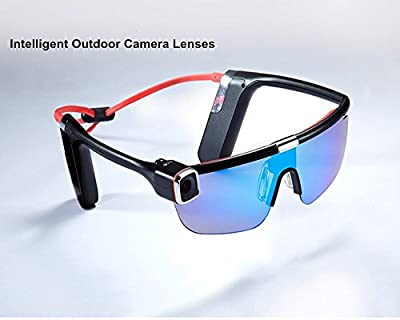 Irthing® Intelligent Camera Glasses, HD 1080P 60FPS Intelligent Outdoor Glasses With Camera Video Recorder Sport Camera ,Wearable WIFI Remote Camera Video