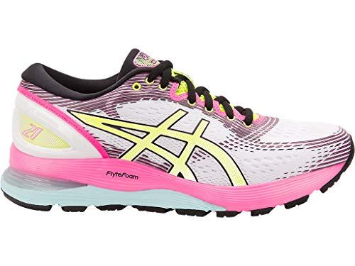 - ASICS Women's Gel-Nimbus 21 SP Running Shoes, 9M, White/White