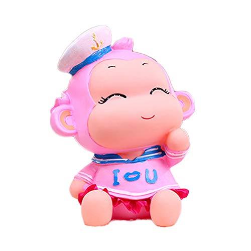 (BALUZ Monkey Coins Penny Cents Piggy Bank Saving Box Money Box for Kids Children Present Gift)