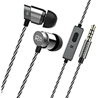 Rhapsody & Mogan H9 Hi-Fi Tangle Free Earbuds In-Ear Headphones,Dynamic Crystal Clear Sound,Noise Isolating Earphones with Microphone