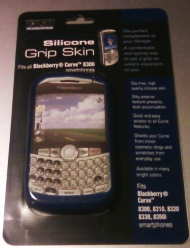 Silicone Grip Skin Blue Fits Blackberry Curve 8300 Smartphones