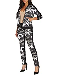 5c7ef91317d11 Women s Casual 2 Pieces Outfits Jumpsuits Floral Bodycon Cold Shoulder Long  Sleeve Top Pants Sets Sweatsuits