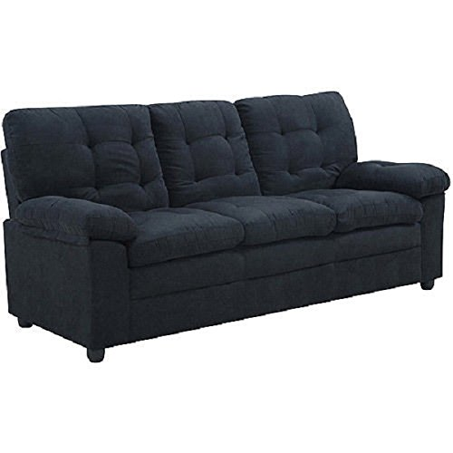 Buchannan Microfiber Sofa, Multiple Colors (Black) Explained