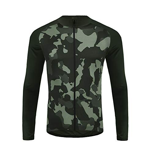 Uglyfrog Men's Long Sleeve Spring Cycling Jersey Cycle Riding Jerseys Biking Shirt with Quick Dry Breathable Fabric (Tri Kit Herren)
