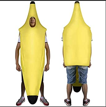 Shixing Adulto Luz Halloween Plátano Traje, Yellow, XXL: Amazon.es ...
