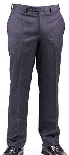 Ralph Lauren Charcoal Wool Dress Pants For Men Classic Flat Front Style Trousers