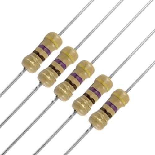 Uxcell a11102000ux0210 100 x Resistors 470 Ohm OhmS 1/4W 250V 5% Carbon (0.25% Carbon)