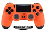 Soft Touch Orange Ps4 PRO Rapid Fire Custom Modded Controller 40 Mods