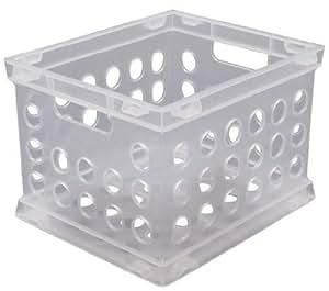 """Sterilite 16958612 8.75"""" Clear Storage Crate"""