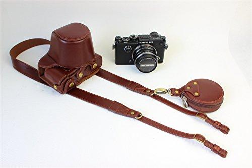 Olympus PEN-F Case, BolinUS Handmade Genuine Real Leather Fu