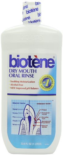 Biotene Fresh Mint Moisturizing Oral Rinse Mouthwash, Alcohol-Free, for Dry Mouth, 33.8 ounce by Biotène