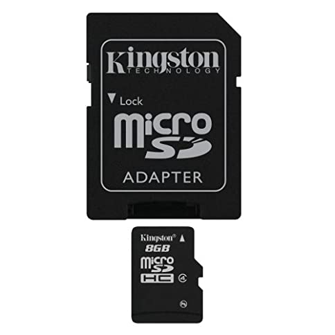 - 41UF7nC58XL - Kingston 8 GB microSDHC Class 4 Flash Memory Card SDC4/8GBET