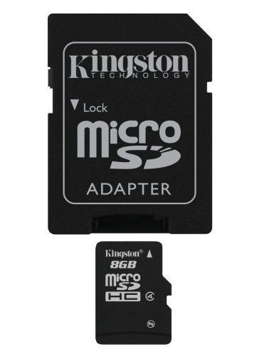Kingston 8 GB microSDHC Class 4 Flash Memory Card SDC4/8GBET ()