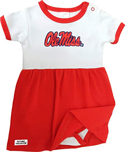 Future Tailgater Mississippi Ole Miss Rebels Onesie Baby Dress - Red (12-18 - Rebel Girl Snap