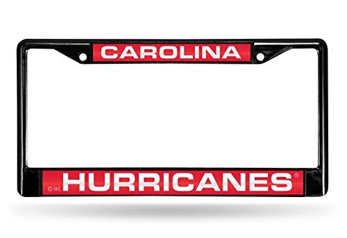 Carolina Hurricanes Laser Black License Plate Frame