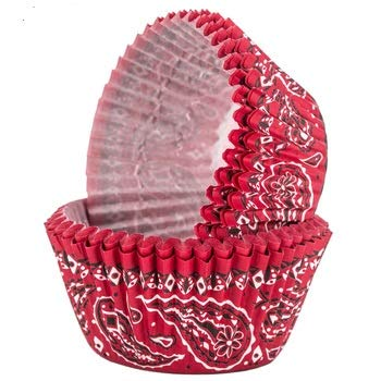 Red Bandana Western Theme Baking Cups For Parties Picnics Party Supplies 50 Ct -