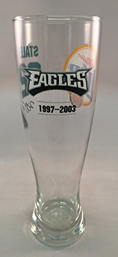 Duce Staley #22 Philadelphia Eagles Miller Lite Pilsner Beer Glass NFL ()