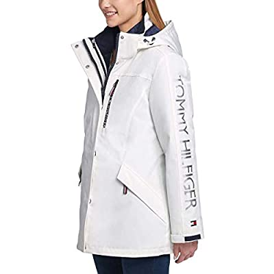 Tommy Hilfiger Womens Winter Cold Weather Basic Coat: Clothing