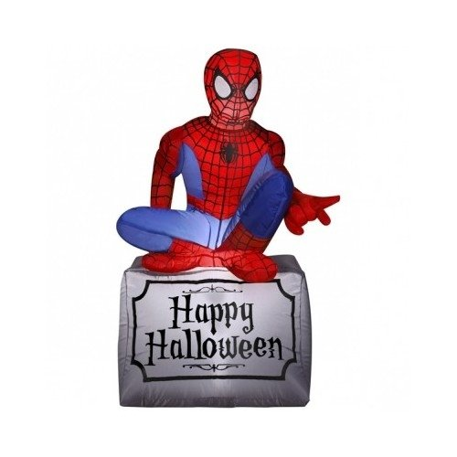 Halloween Decorations Outdoor Indoor Party Spider-Man Inflatable Scene Setters Kids Horror Nights by Gemmy Airblown Inflatable