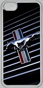 5 5s hard shell Mustang Shelby GT car logo iPhone 5 5s case (PC material) car logo Transparent iPhone 5 5s accessories designed by micase WANGJING JINDA