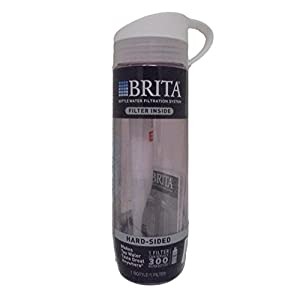 BRITA Water Filtration Water Bottles Sport 23oz (23.7 oz, Pink w/ White Lid (Hard))