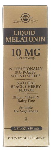 Liquid mélatonine 10 mg Natural Black Cherry Solgar 2 oz Liquid