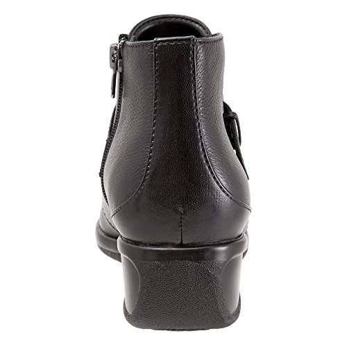 Ankle Black Bootie Mindy Leather Tumbled Trotters Women's qBZEnwqS