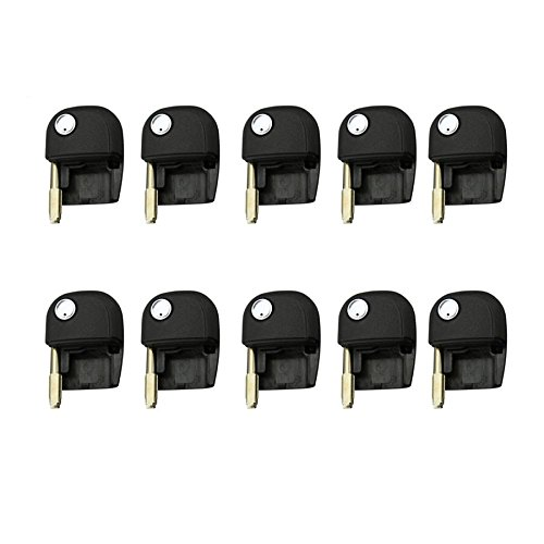 New Replacement Remote Flip Key Shell Case Uncut Blade For Jaguar (10 Pack) by ECS AMERICA