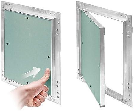 marco de aluminio Verde menta en seco Tapa para revisi/ón GK de 250x300 mm yeso 12,5 mm kral6 pladur Revisi/ón Mantenimiento Puerta 25x30 cm Mantenimiento Tapa de limpieza Mantenimiento Apertura