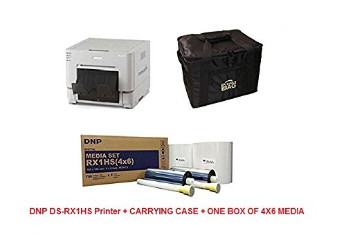 DNP DS-RX1HS PRINTER - BUNDLE - with CARRYING CASE + 1 BOX OF 4X6 MEDIA (1400 PRINTS) by DNP