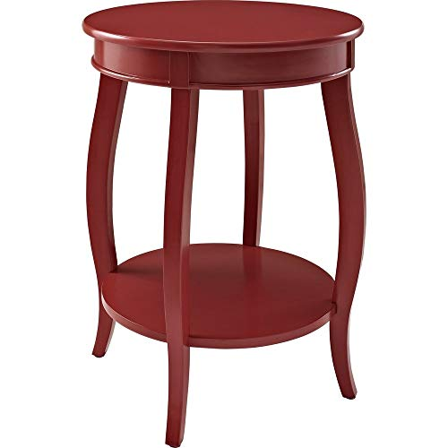 Powell's Furniture 471-350 Powell Round Shelf, Red Table,]()