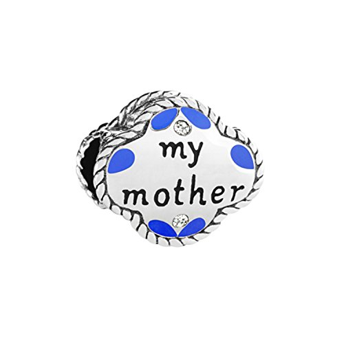 Authentic Chamilia Sterling Silver Charm My Mother, My Friend with Swarovski and enamel 2025-1408 ()