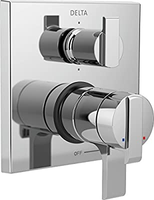 Delta Faucet T27967 Ara Angular Modern Monitor 17 Series Valve Trim with 6-Setting Integrated Diverter, Chrome