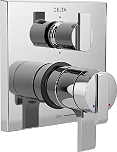 Delta Faucet T27967 Ara Angular Modern Monitor 17 Series Valve Trim with 6-Setting Integrated Diverter, Chrome low-cost