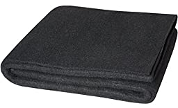 Steiner 317-4X6 Velvet Shield HD 24 oz Black Carbonized Fiber Welding Blanket, 4\' x 6\'