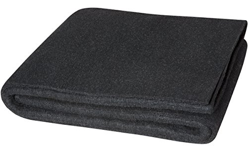 Steiner 317-18X18 Velvet Shield HD 24-Ounce Black Carbonized Fiber Welding Blanket, 18